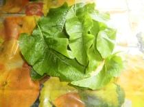 horseradish leaves