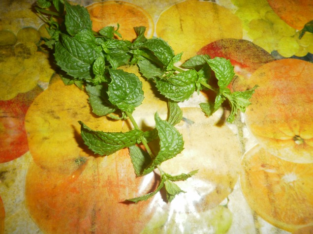 mint used to flavour zucchini